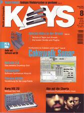 Keys 8 2001 mit Audio und Software auf CD / Cakewalk Sonar / Delay in der Praxis