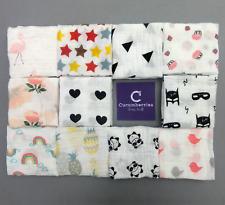 55cm 100% Cotton Muslin Comforter Squares Wipe Cloth Set of 2