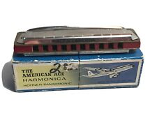 The American Ace Harmonica Made In Ireland With Box
