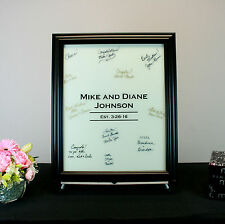 White Painted Glass Signature Wedding Frame
