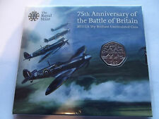 R/M 2015 B/U  50p Coin P/Pack 75th Anniversary of the Battle of Britain REDUCED