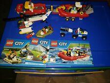 Lego 60086 City Starter Set W/ Moc Fire Truck Trailer Minifigures & Instructions
