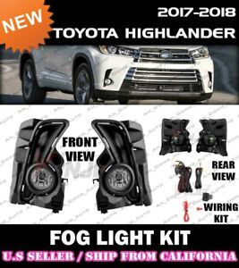 [complete] FOG LIGHT KIT for 17 18 19 TOYOTA HIGHLANDER switch wiring bezel