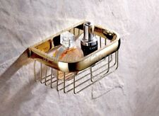 Gold Color Brass Bathroom Accessory Toilet Paper Roll Holder Basket lba532