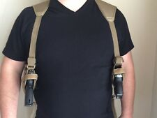 New - Tan - Ambidextrous RH - LH - Dual Concealed Shoulder Holster - Universal