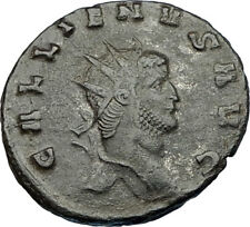 GALLIENUS son of Valerian I 253AD Authentic Ancient Roman Coin Antelope i65630