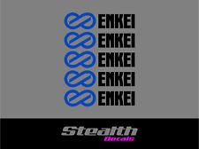 ENKEI Wheel rim decals stickers x5, jdm ,drift, RWB,various colours