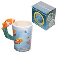 CLOWN FISH 3D HANDLE NOVELTY CERAMIC COFFEE MUG TEA CUP NEW IN GIFT BOX