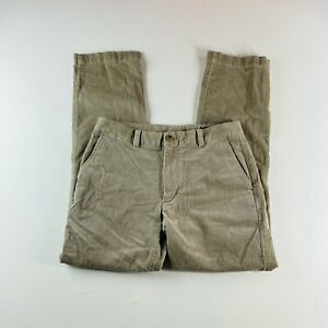 Vineyard Vines Corduroy Slim Fit Breaker Pants Beige Mens Size 30x30