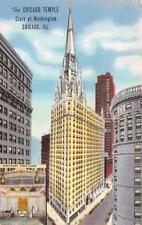IL, Illinois   CHICAGO TEMPLE~FIRST METHODIST Pastor Goff Image   1946 Postcard