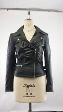 Muubaa Leather Biker Jacket In Black   UK10 / US6 / EU38 RRP £380.00