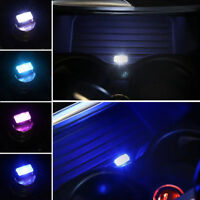 Mini USB LED Car Interior Light Neon Atmosphere Ambient Lamp Blue Light