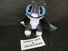 "How To Train Your Dragon 3 Blue Eyes White Black 8"" Nightlight Plush Stuffed Toy"