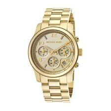 Reloj de pulsera mujer Michael Kors MK5055 RUNAWAY oro de acero gold cronógrafo