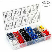 New 1200PCS Assorted Crimp Terminal Electrical Wire Connector Set Case Kit