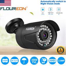 FLOUREON 1080P 2MP 3000TVL CCTV Bullet WIFI Outdoor Security Camera Night Vision
