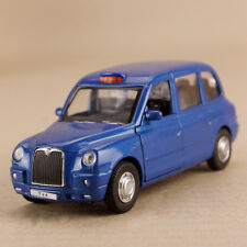 2012 London Taxi Geely Englon TX4 Blue Model Car 1:36 12cm Pull Back Doors Open