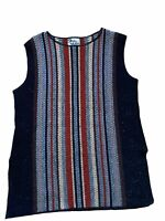 Its Pure Gould Vintage Sleeveless Sweater Vest  Med Large 70s Colors