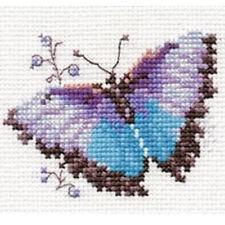 Alisa Cross Stitch Kit-mariposa azul
