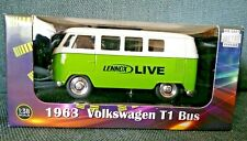 1963 Volkswagen T1 Bus Die Cast Metal Replica 1:38 Scale Green Welly Lennox NEW