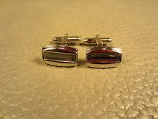 Contemporary Marcasite White Gold Plated Cuff Links