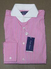 Ralph Lauren Purple Label Italy Mens Keaton White Collar French Cuff Dress Shirt