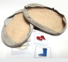 rutschfeste Ledersohlen für Hüttenschuhe zum Annähen für Babys und Kleinkinder