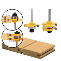 2x / Set Tongue & Groove Router Bit 3/4 für Holzbearbeitung Too BOD