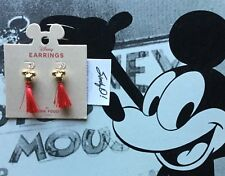 Disney Mickey Mouse Red Tassel Earrings by Junk Food New