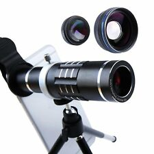 Cell Phone Lens 18X Telephoto Lens Super Wide Angle Lens Macro Lens 3 in 1 Phone