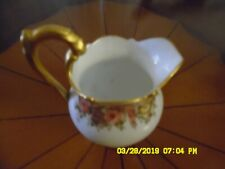 "D & C France Miniature Creamer. Antique Limoges. Signed R.E.R. 4 1/2"" Tall."