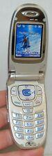 LG VX6100 Verizon Wireless Flip SILVER Cell Phone mobile VGA 4x Zoom Camera ID B