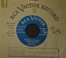 CHRISTMAS 45 Perry Como RCA 2972 O Come All Ye Faithful and Jingle Bells