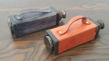 Tube Telescope Nautical Brass Monocular Leather Handled Vintage Lot of 2 Pcs