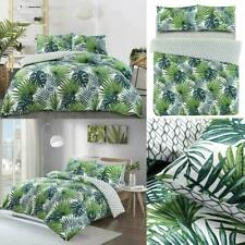 Tropical Palm Duvet Cover With Pillowcase Reversible Green Leaf Bedding Set