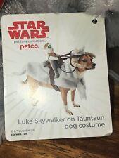 NEW WT Petco Star Wars Small Dog Costume Luke Skywalker On Tauntaun