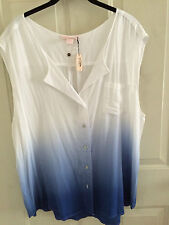 VICTORIA'S SECRET OMBRE SLEEVLESS TOP SIZE L  NWT