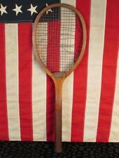 Vintage 1910s Moskowitz & Herbach Wood Tennis Racquet 'Beverly' Antique Phila,PA
