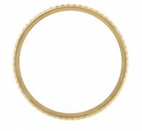 REAL GOLD 18K ROTATING BEZEL INSERT FOR ROLEX SUBMARINER 5508 5512 5513 1680