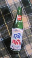Vintage 7-Up Commemorative 1776-1976 Soda Bottle 16 Fl Oz