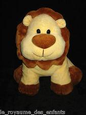 Doudou Peluche Lion marron beige jaune Playkids CMI 29 cm