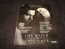 "LIKE WATER FOR CHOCOLATE 1992 Oscar ad ""Como Agua Para Chocolate"", Lumi Cavazos"