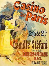 ADVERTISING THEATRE STAGE MUSICAL CASINO PARIS CAMILLE STEFANI POSTER LV1167