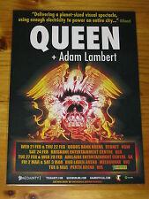 QUEEN - ADAM LAMBERT - 2018 Australia Tour - Laminated Promotional Poster.