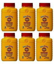 Lot Of 6 Gold Bond Medicated Body Powder Original Strength 1 oz