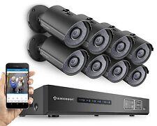 Amcrest 720P HD HDCVI CCTV 8CH Video Security System 8x 1-MP Bullet Cameras, 2TB
