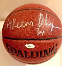 Hakeem Olajuwon Signed I/O Basketball JSA Houston Rockets W360824
