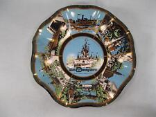 Walt Disney World The Magic Kingdom Decorative Ashtray Blue Green Gold Black (O)