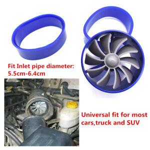 Air Intake Turbonator Dual Fan Turbine Gas Fuel Saver Turbo Supercharger 1 Pcs