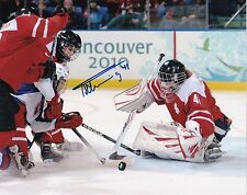 "Florence Schelling Switzerland Autographed 8"" x 10"" Women's Hockey Photo W/COA"